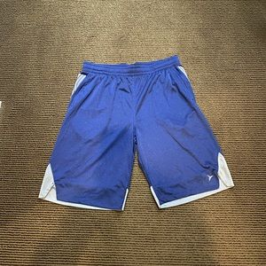 "Men's 12"" Navy Blue Workout Shorts"